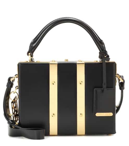 Sophie Hulme Schultertasche Albany Mini Suitcase aus Leder