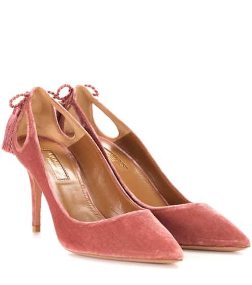 Aquazzura Pumps Forever Marylin 85 aus Samt