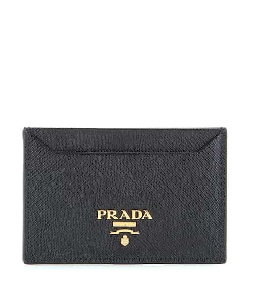프라다 Prada Saffiano leather card holder