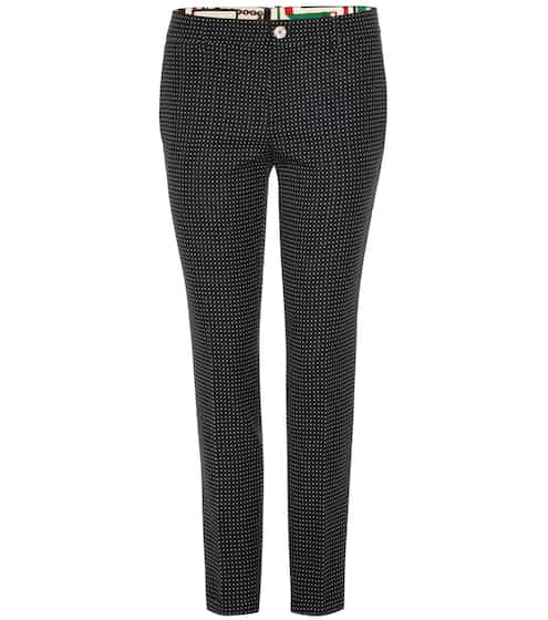 Gucci Cropped-Hose aus Wolle und Mohair