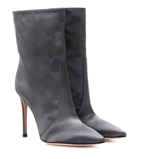 Gianvito Rossi Exklusiv bei mytheresa.com – Ankle Boots Melanie aus Satin