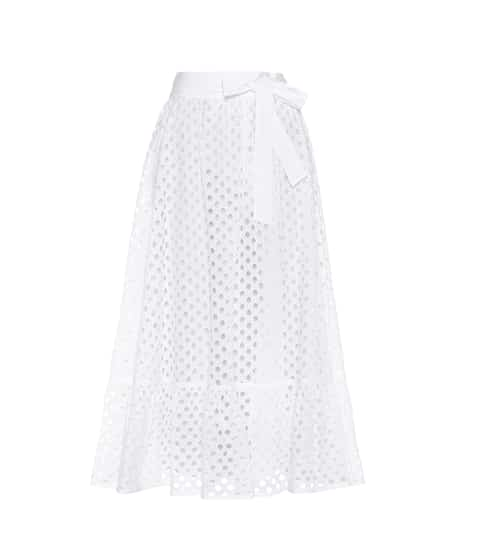 Tory Burch Hermosa broderie anglaise cotton skirt