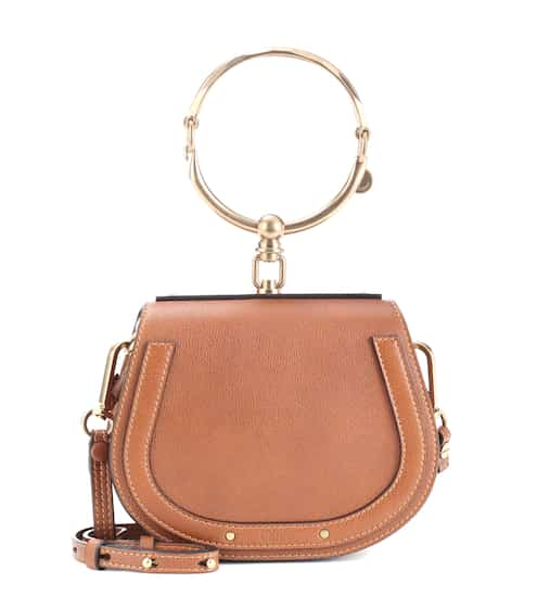 끌로에 나일백 스몰 - 캬라멜 Chloe Small Nile leather bracelet bag