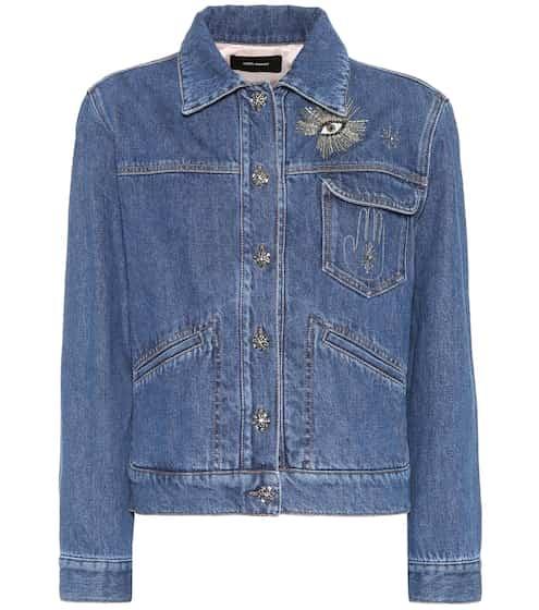 이자벨 마랑 Isabel Marant Ensley embellished denim jacket
