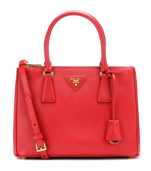 Galleria Saffiano Small Leather Shoulder Bag Prada