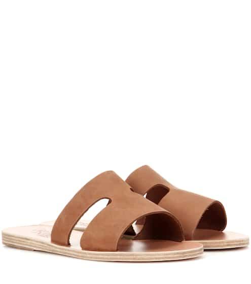 Ancient Greek Sandals Sandalen Apteros aus Nubukleder