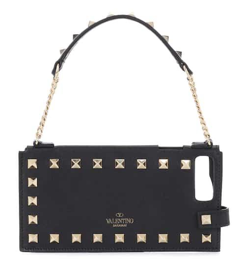e25ae73ecfd1 Valentino Garavani Rockstud leather iPhone 7+ case