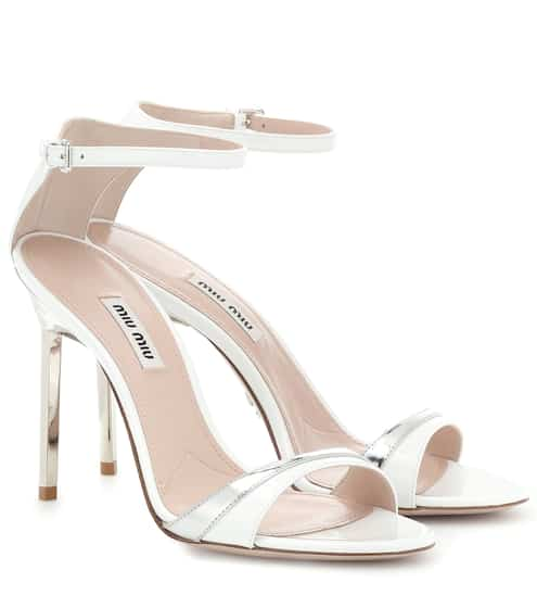 c7f4cd9174c Metallic and patent leather sandals