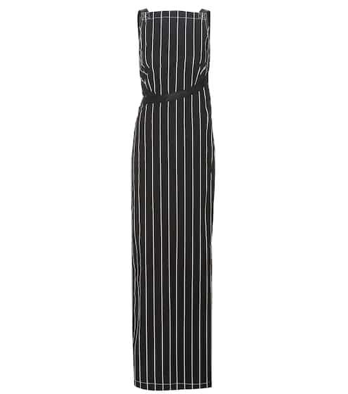 Balenciaga Kleid aus Baumwolle mit Streifen