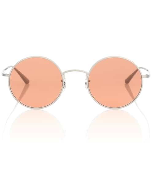 Oliver Peoples Runde Sonnenbrille After Midnight 49