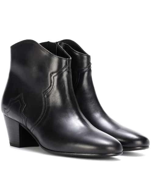sale retailer 1bd72 25622 Dicker leather ankle boots   Isabel Marant