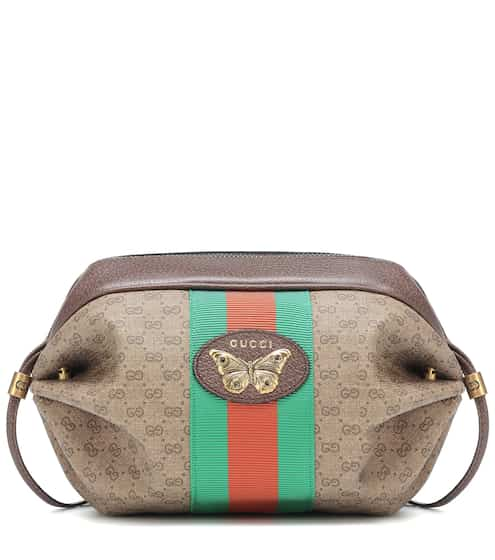f190b68cc95 Mini GG leather-trimmed shoulder bag