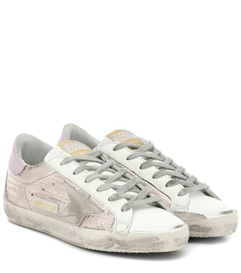 골든구스 Golden Goose Superstar croc-effect sneakers