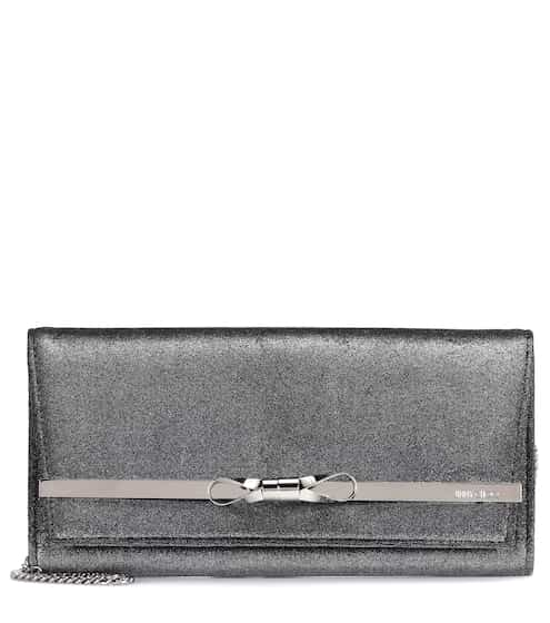 Jimmy Choo Clutch Lydia Bow aus Samt