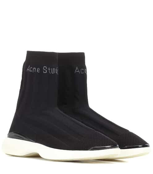 아크네 스튜디오 바틸다 삭스 스니커즈 블랙 Acne Studios Batilda stretch mesh sneakers