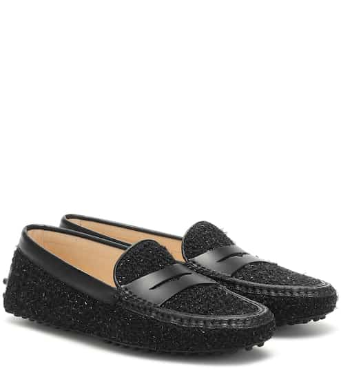Tod's Gommino tweed loafers