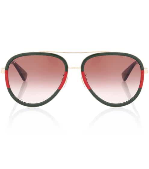 Gucci Exklusiv bei mytheresa.com – Aviator-Sonnenbrille