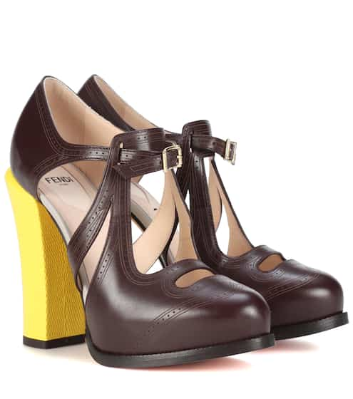 Fendi Pumps aus Leder