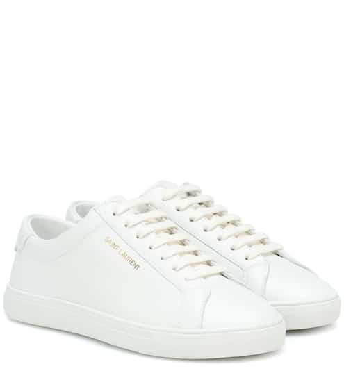 생 로랑 앤디 로고 스니커즈 (블랙핑크 로제 착용) Saint Laurent Andy leather sneakers