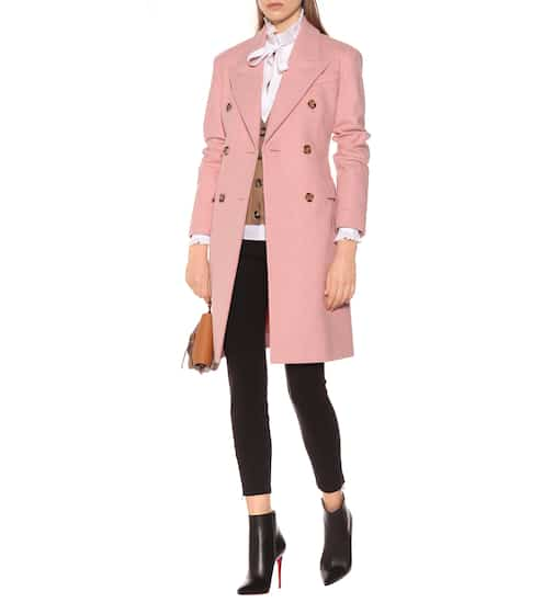 Double-breasted virgin wool coat   Burberry