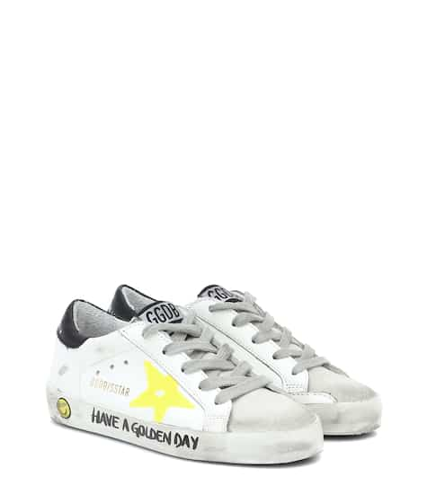 골든구스 Golden Goose Kids Superstar leather sneakers