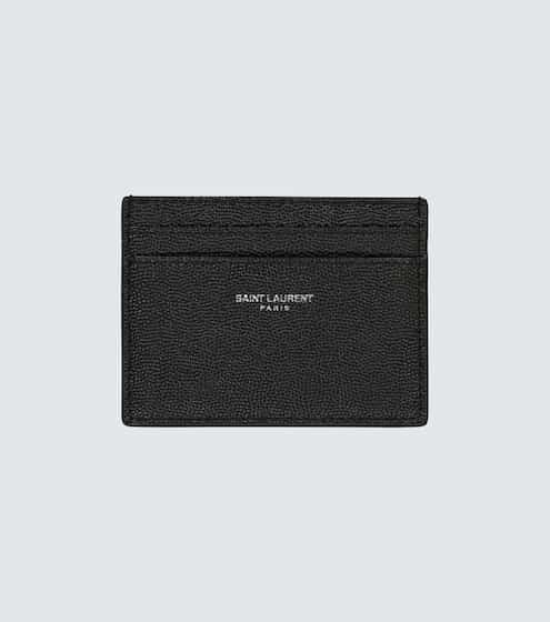 생 로랑 카드지갑 - 블랙 Saint Laurent Leather card holder