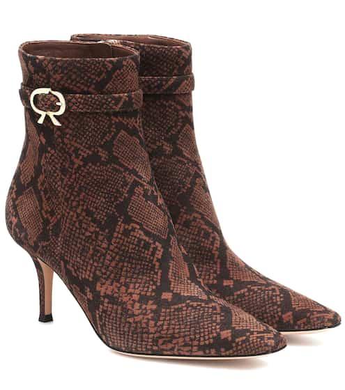 지안비토 로시 Gianvito Rossi Remy 70 snake-effect ankle boots