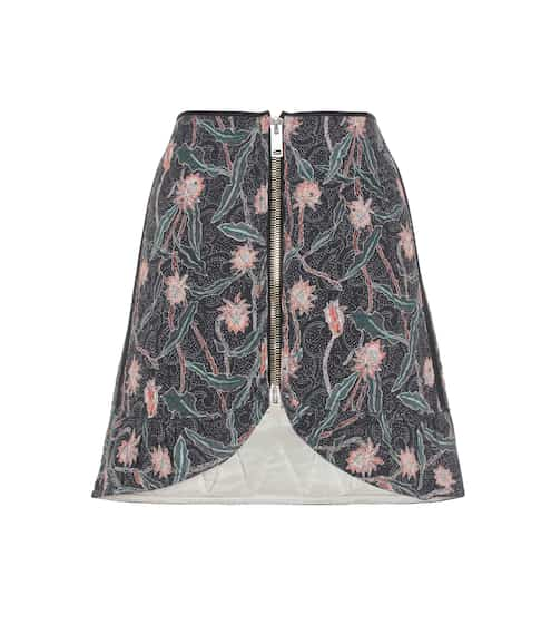 Isabel Marant Prickly printed cotton skirt