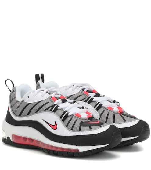 나이키 우먼 에어맥스 98 스니커즈 Nike Air Max 98 sneakers, White/Solrrd