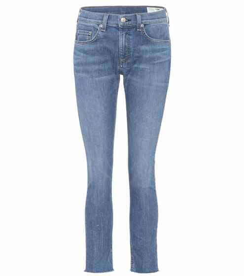 Rag & Bone Ankle Skinny Cropped Jeans