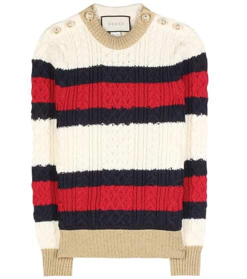 Gucci Gestreifter Wollpullover