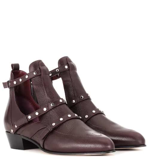 57037ffb4a03 Jimmy Choo Harley 30 Leather Cut-Out Boots from mytheresa - Styhunt
