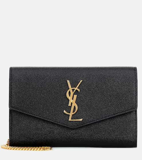 생 로랑 업타운 크로스바디백  겸 클러치 - 블랙/금장 Saint Laurent Uptown leather crossbody bag