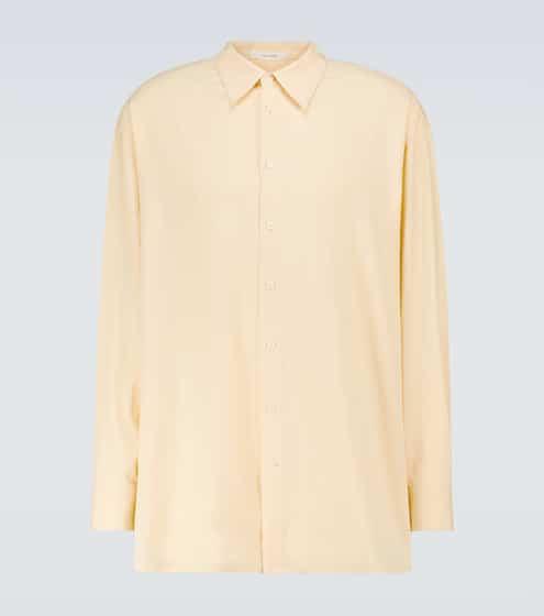 더 로우 맨 실크 셔츠 The Row Lukre long-sleeved silk shirt