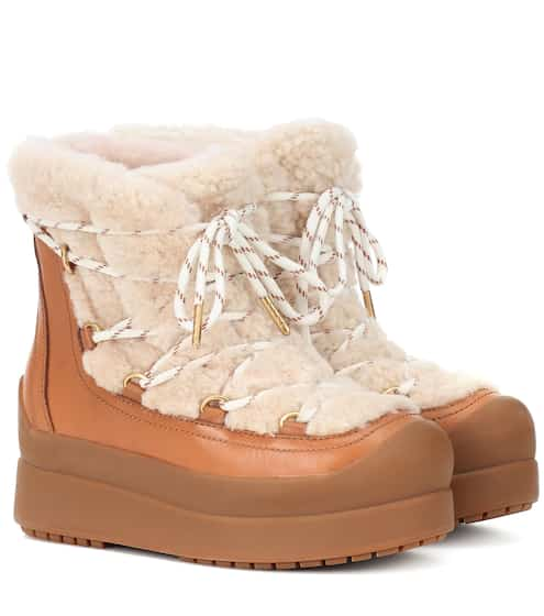 677390b0e Tory Burch Courtney 60Mm Shearling Ankle Boots from mytheresa - Styhunt