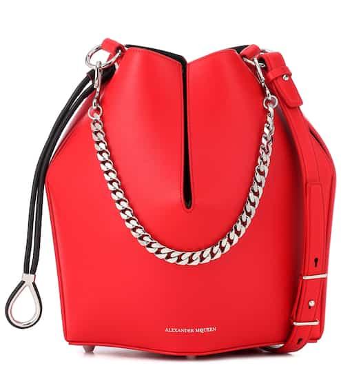 알렉산더 맥퀸 Alexander McQueen Leather bucket bag