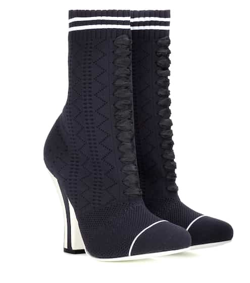 Fendi Ankle Boots aus Stretch-Strick