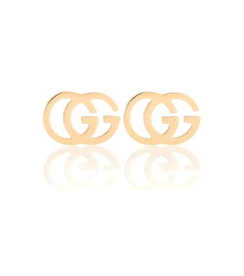 구찌 Gucci GG 18kt gold stud earrings