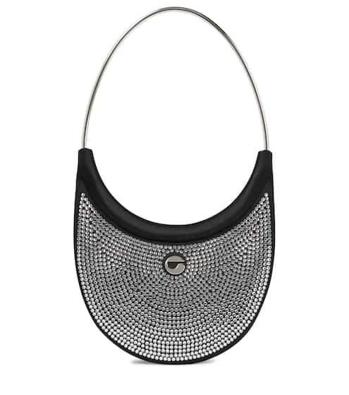 코페르니 링 스와이프백 Coperni Ring Swipe leather embellished shoulder bag