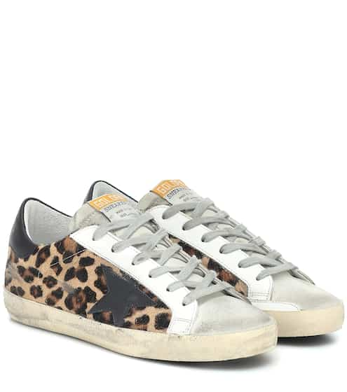 골든구스 Golden Goose Superstar calf-hair sneakers