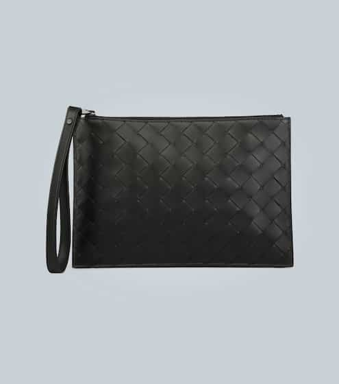 보테가 베네타 Bottega Veneta Intrecciato leather travel pouch
