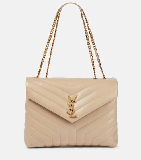 생 로랑 루루백 미디움 - 다크 베이지 Saint Laurent Loulou Medium leather shoulder bag