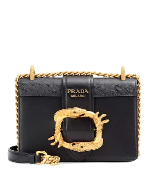 44a7dac0c4f3 Prada Embellished Leather Shoulder Bag from mytheresa - Styhunt