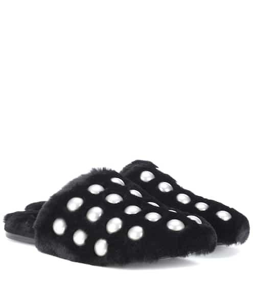 알렉산더 왕 Alexander Wang Amelia studded fur slippers