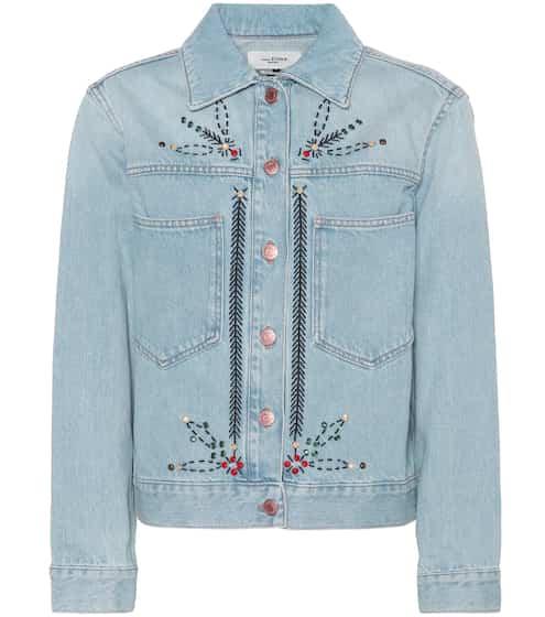 이자벨 마랑 에뚜왈 카벨라 데님 자켓 Isabel Marant EEtoile Cabella embellished denim jacket