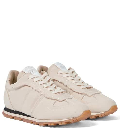 메종 마르지엘라 '독일군' 레플리카 러너 - 오프화이트 Maison Margiela Replica canvas sneakers