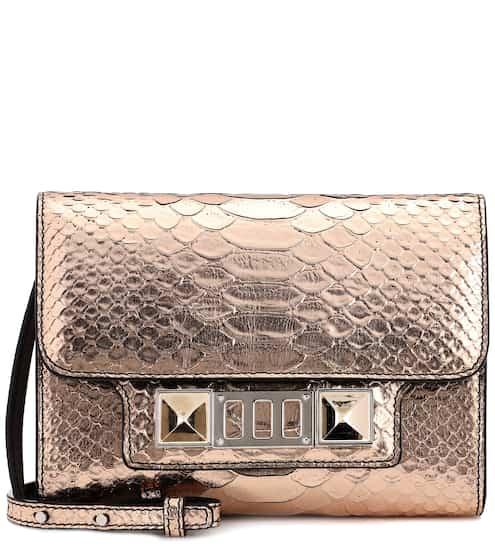 Proenza Schouler Schultertasche PS11 Wallet aus Metallic-Leder
