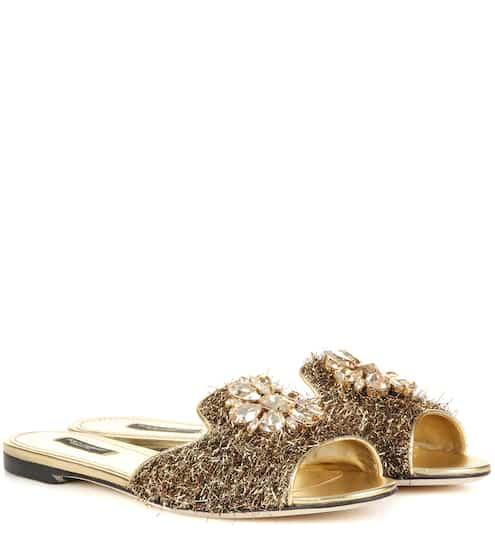 Dolce & Gabbana Exklusiv bei mytheresa.com – Verzierte Sandalen