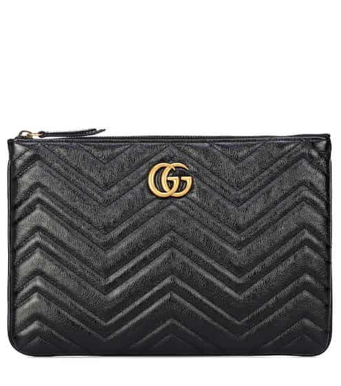 구찌 Gucci GG Marmont quilted leather clutch