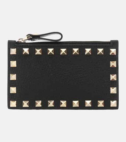 발렌티노 Valentino Garavani Rockstud leather card holder